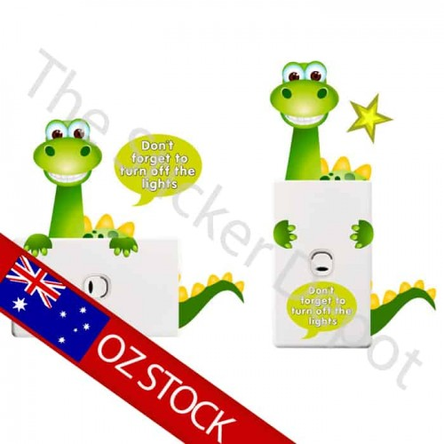 Dinosaur Turn off the Light Reminder Sticker