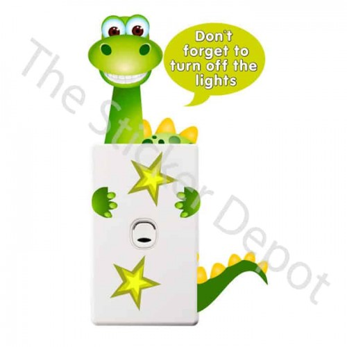Dinosaur Turn Off the Lights Reminder Sticker