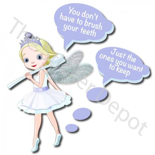 Fairy Brush Your Teeth Reminder Sticker