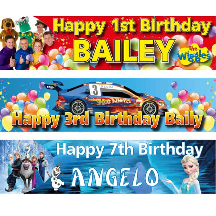Kid's Birthday Banners