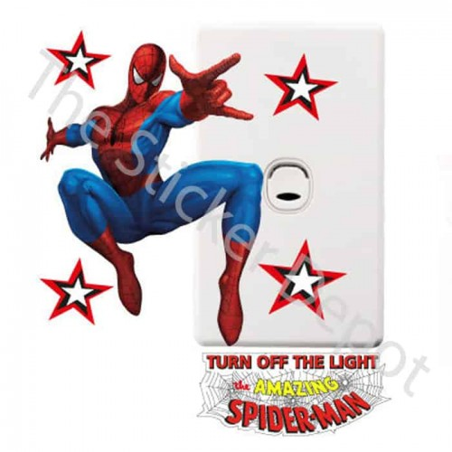 Spiderman Turn Off the Lights Reminder Sticker