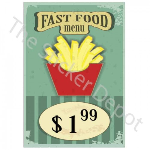 Vintage Fries Wall Sticker