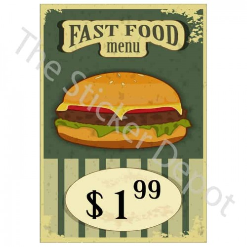 Vintage Hamburger Wall Sticker