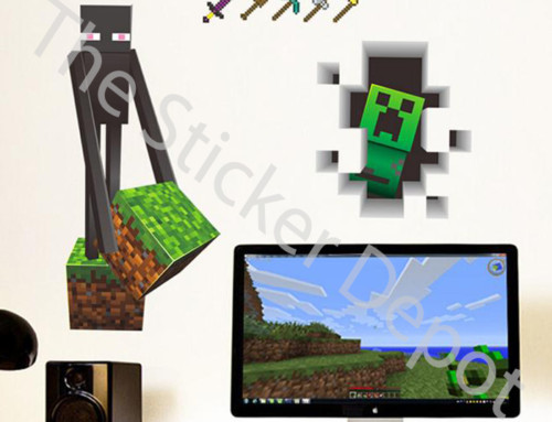 New Minecraft Enderman and Creeper Wall Stickers